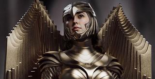 金光閃閃的經典戰衣展現強悍氣勢!Queen Studios《神力女超人1984》神力女超人 金鷹裝甲 1/2比例全身雕像(WONDER WOMAN: 1984 1:2 SCALE STATUE)