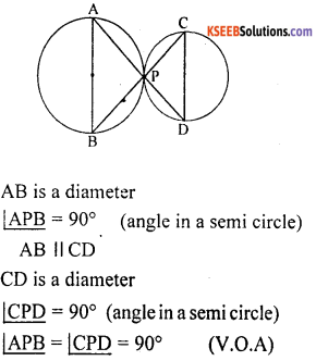 KSEEB Solutions for Class 10 Maths Chapter 4 Circles Additional Questions 23
