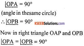 KSEEB Solutions for Class 10 Maths Chapter 4 Circles Additional Questions 19