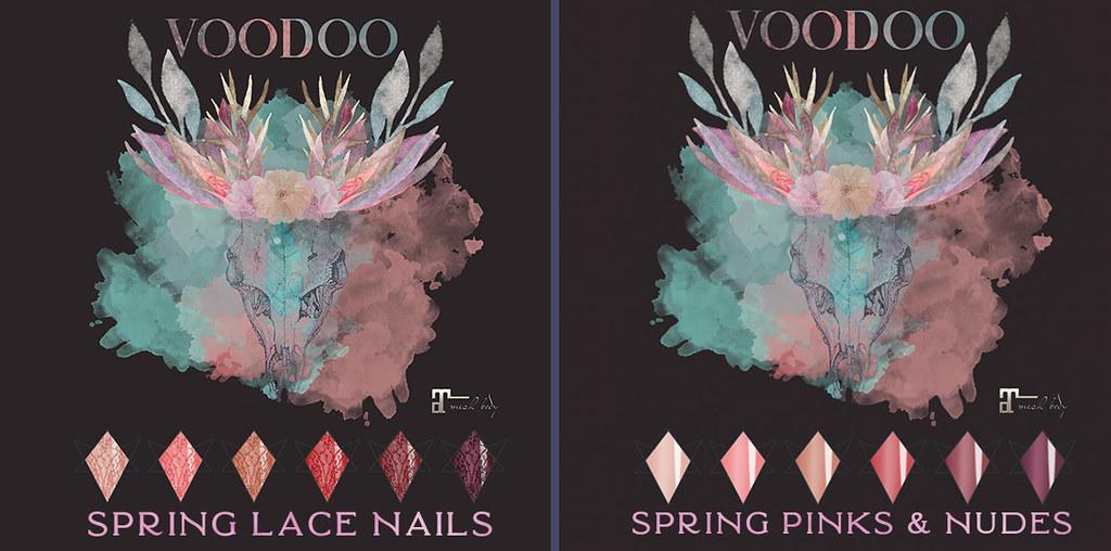 Voodoo – Spring Lace Almond Nails Maitreya