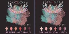 Voodoo - Spring Lace Almond Nails Maitreya