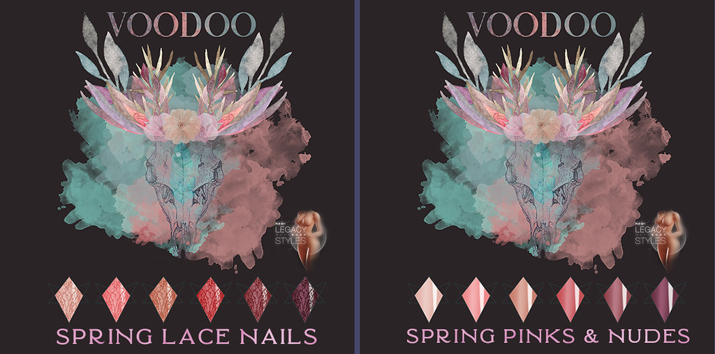 Voodoo – Spring Lace Almond Nails Legacy