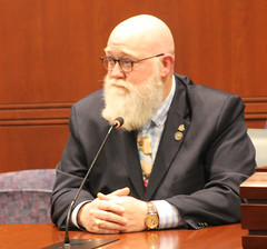 Rep. Buckbee speaks before the Public Safety Committee