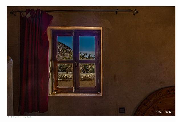Outside my window, Borj Biramane, Icht, Morocco.