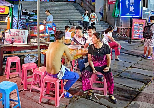 China 2015. Chongqing. Typical Night Mood among young Chinese.