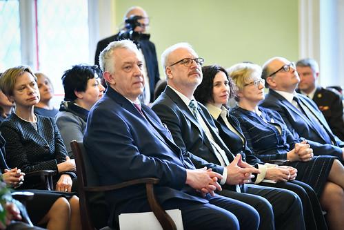 """09.03.2020. Valsts prezidents Egils Levits piedalās """"Ekselences balvas"""" pasniegšanas ceremonijā"""