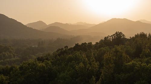 mountains landscape hangzhou hills sunset zhejiang peoplesrepublicofchina