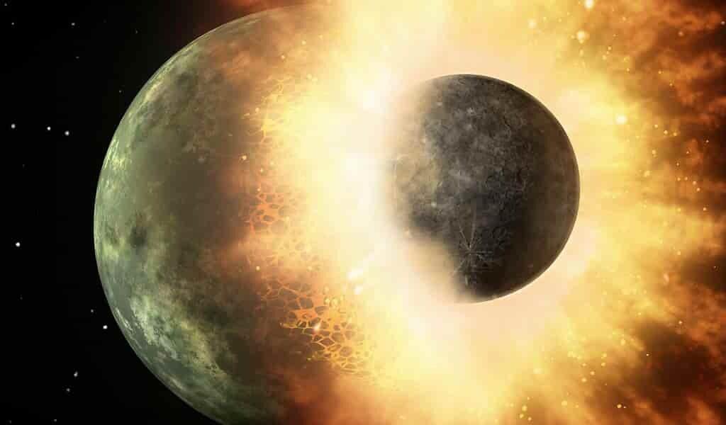La lune s'est formée lors d'une énorme collision