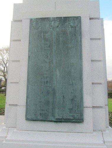 Montrose War Memorial Great War Names