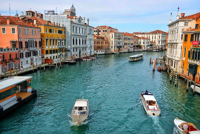 A busy Grand Canal, Venice!