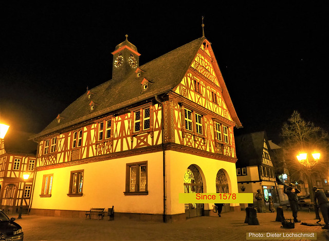 Altes Rathaus (Old Town Hall) in Groß-Gerau, Hesse, Germany - Construction Work started 1578. In that city of the State Hesse has been the Oldest Schools.