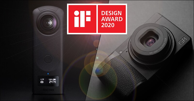 Ricoh wins iF DESIGN AWARDS for the RICOH GR III and the RICOH THETA Z1