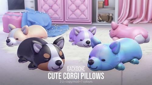 BackBone Cute Corgi Pillows