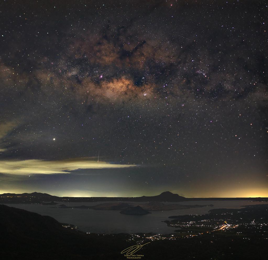 Milky Way over Taal Volcano