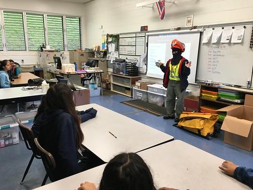 Hawaiian Electric At Kalama Intermediate School On Maui