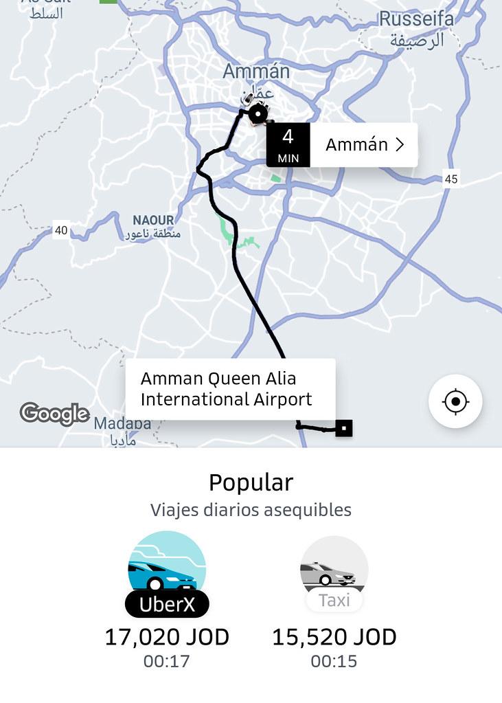 UBER en Jordania funciona