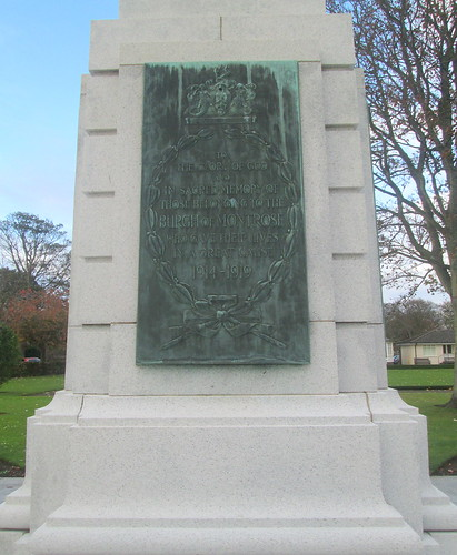 Montrose War Memorial Great War Dedication