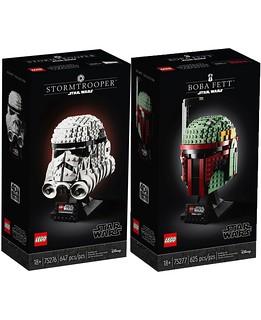 《帝國大反擊》四十週年紀念! LEGO 75276、75277《星際大戰》忠誠的「帝國風暴兵」、名聲響徹宇宙的賞金獵人「波巴·費特」樂高頭像化! Stormtrooper Boba Fett