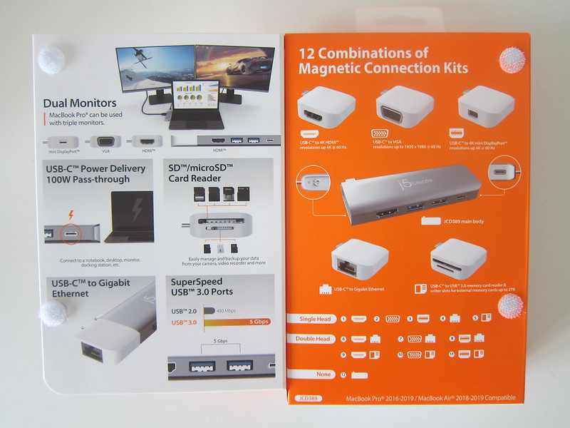 j5create UltraDrive Kit USB-C Multi-Display Modular Dock (JCD389) - Box Open
