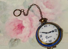 Blue Pocket Watch