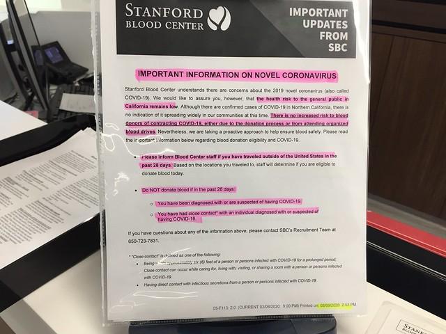 Info wrt Coronavirus