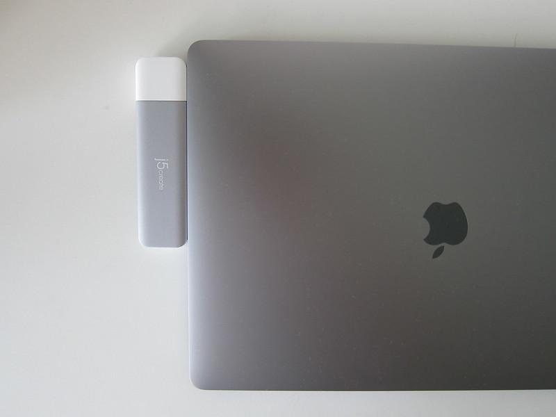 j5create UltraDrive Kit USB-C Multi-Display Modular Dock (JCD389) - With MacBook Pro 15 Inch
