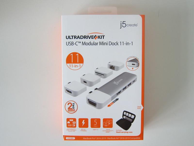 j5create UltraDrive Kit USB-C Multi-Display Modular Dock (JCD389) - Box Front