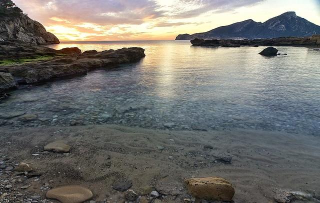 Mi playa en invierno  Ma plage en hiver Cala Conills Mallorca