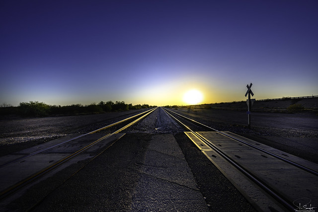 Railroad feeling near Sentinel - Arizona - USA