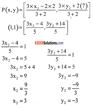 KSEEB Solutions for Class 10 Maths Chapter 7 Coordinate Geometry Additional Questions 23