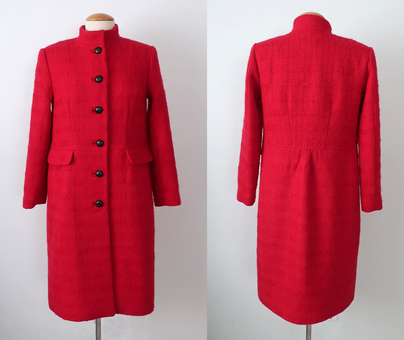 Red coat front and back