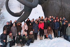 ARCTIS-2020, a group photo near the mammoth monument in Khanty-Mansiysk