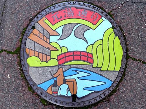 Yudaonsen Yamaguchi city, manhole cover 22 (山口県山口市湯田温泉のマンホール22)