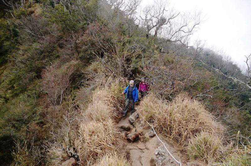 加里山岩頂觀景點下稜線