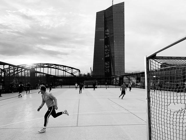 Street soccer.