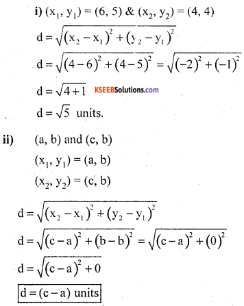 KSEEB Solutions for Class 10 Maths Chapter 7 Coordinate Geometry Additional Questions 13