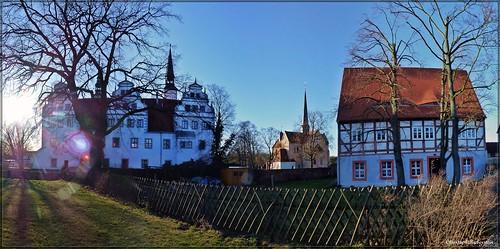 Schloss, Klosterkirche St. Marien und Pfarrhaus zu  Doberlug