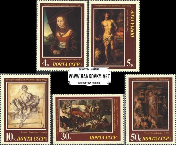 Známky Sovietsky zväz 1987 Maľby západnej Európy MNH