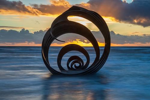 sunset seascape mary'sshell thorntoncleveleys england unitedkingdom