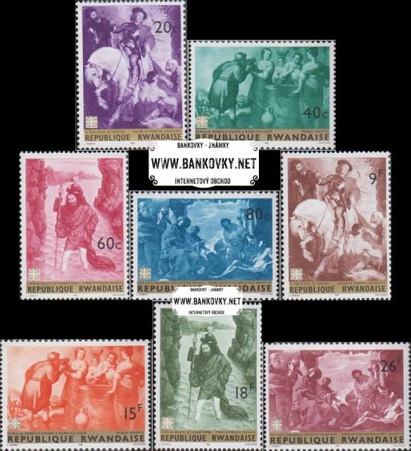 Známky Rwanda 1967 Slávne maľby, razítkovaná séria