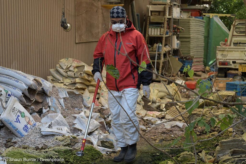 綠色和平自福島核災以來,進行30次實地調查,仍測得超過國際建議標準的輻射量。圖片來源:綠色和平提供。