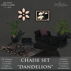 Chaise Set Dandelion