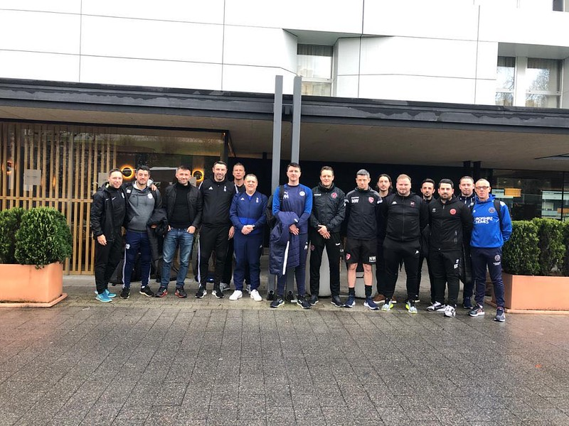 Day 1 | Coaches outside hotel in Bilbao