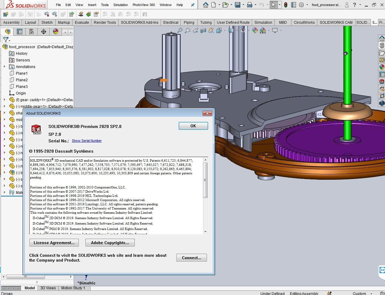 Working with SolidWorks 2020 SP2.0 full license