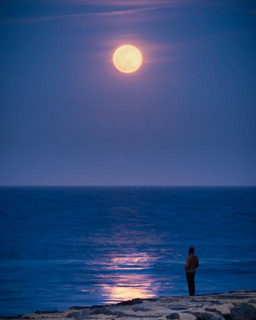 Last Nights Worm Moon (Belmar NJ)