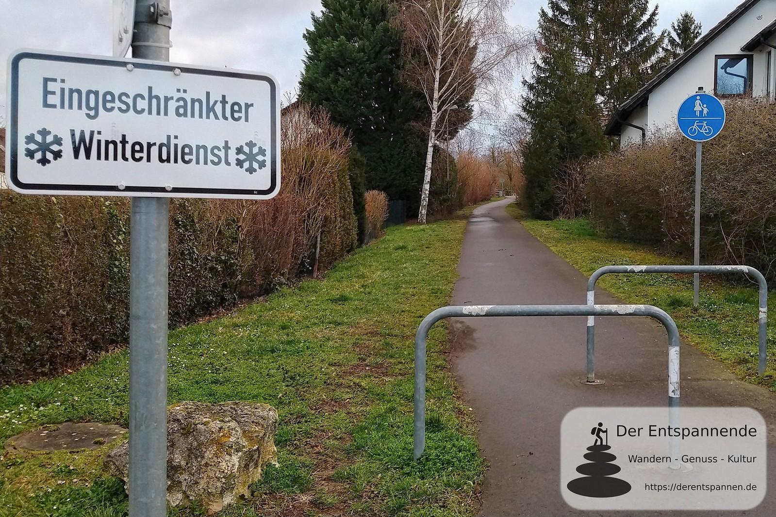 Radweg in Selzen (K 37, Bahnhofstr.), ehemalige Bahnstrecke Alzey-Bodenheim (Amiche)