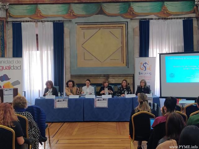 La profesora de Adventia, María Espinel, participa en la jornada 'Mujer, Universidad, Ciencia y Sociedad' organizada por la Unidad de Igualdad de la USAL.