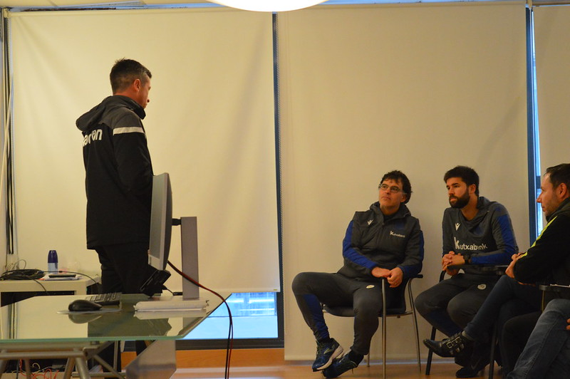 Day 4 | Morecambe U18 Academy Coach Neil Wainwright introduces himself to Real Sociedad staff
