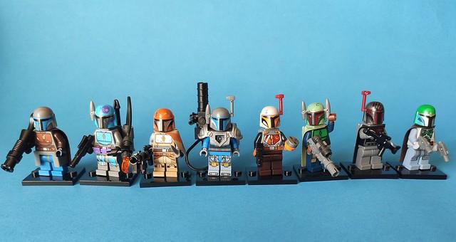 Some custom The Mandalorian minifigs