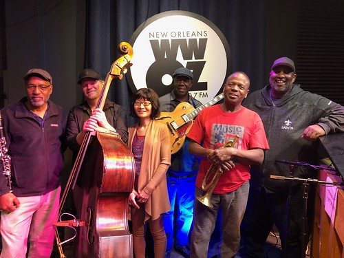 New Orleans All-Stars at WWOZ - March 9, 2020. Photo by Carrie Booher.